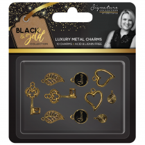 Crafters Companion Sara Signature Collection Black & Gold - Metal Charms (10pk)