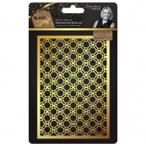 Crafters Companion Sara Signature Collection Black & Gold Metal Die - Circle Trellis