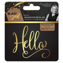 Crafters Companion Sara Signature Collection Black & Gold Metal Die - Hello