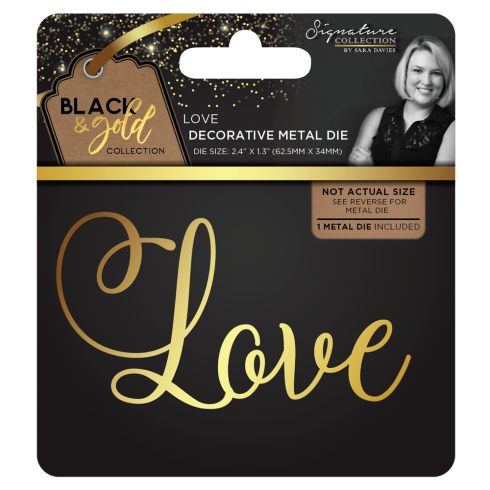 Crafters Companion Sara Signature Collection Black & Gold Metal Die - Love