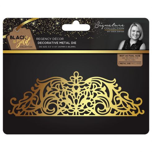 Crafters Companion Sara Signature Collection Black & Gold Metal Die - Regency Decor