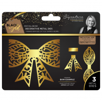 Crafters Companion Sara Signature Collection Black & Gold Metal Die - Royal Bow