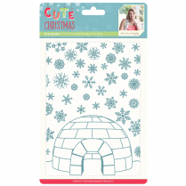 "Crafters Companion Sara Signature Collection Cute Christmas 5"" x 7"" Embossing Folder - Icy Igloo"