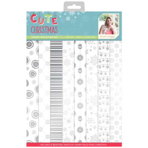 Crafters Companion Sara Signature Collection Cute Christmas - A4 Luxury Foiled Pad