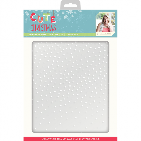 Crafters Companion Sara Signature Collection Cute Christmas - A4 Luxury Snowfall Acetate