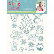 Crafters Companion Sara Signature Collection Cute Christmas A6 Photopolymer Stamp - Decorative Elements
