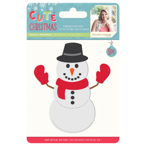 Crafters Companion Sara Signature Collection Cute Christmas Metal Die - Build-a-Snowman