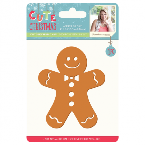 Crafters Companion Sara Signature Collection Cute Christmas Metal Die - Jolly Gingerbread Man