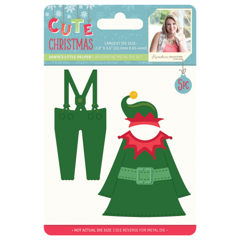 Crafters Companion Sara Signature Collection Cute Christmas Metal Die - Santas Little Helper