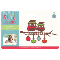 Crafters Companion Sara Signature Collection Cute Christmas Metal Die - Winter Owls