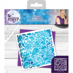 Crafters Companion Sara Signature Collection Enchanted Forest - 6x6 Stencil - Droplets