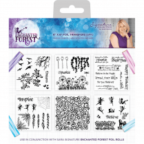 Crafters Companion Sara Signature Collection Enchanted Forest - 6x6 Stencil - Foil Transfers