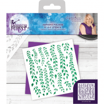 Crafters Companion Sara Signature Collection Enchanted Forest - 6x6 Stencil - Hanging Foilage