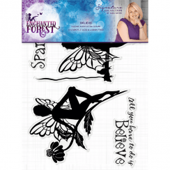 Crafters Companion Sara Signature Collection Enchanted Forest - A6 Acyrlic Stamp - Believe