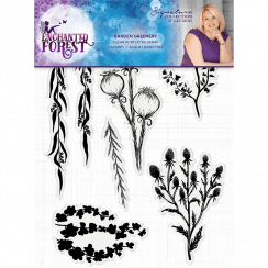 Crafters Companion Sara Signature Collection Enchanted Forest - A6 Acyrlic Stamp - Garden Greenery