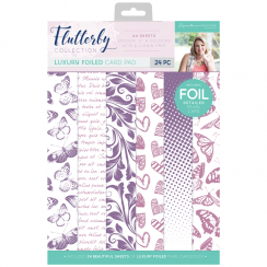 Crafters Companion Sara Signature Collection Flutterby A4 Luxury Foiled Pad