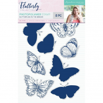 Crafters Companion Sara Signature Collection Flutterby Photopolymer Stamp - Butterflies in the Breeze