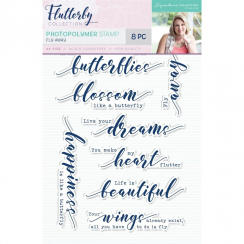 Crafters Companion Sara Signature Collection Flutterby Photopolymer Stamp - Fly Away