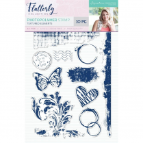 Crafters Companion Sara Signature Collection Flutterby Photopolymer Stamp - Textured Elements