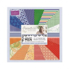 Crafters Companion Sara Signature - Just For Men - 6x6 Paper Pad - Brights Collection
