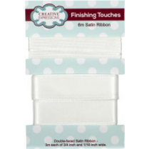 Creative Expressions Satin Ribbon Off White