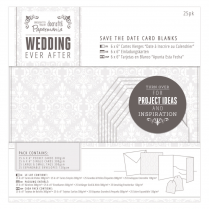 Papermania Save The Date Card Blanks (25pk) - Wedding - Damask