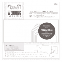 Papermania Save TheDate Card Blanks (25pk) - Wedding - White Heart