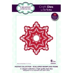 Sue Wilson Scalloped Snowflake Frame