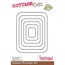 Scrapping Cottage CottageCutz Rounded Rectangle Set