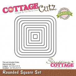 Scrapping Cottage CottageCutz Rounded Square Set