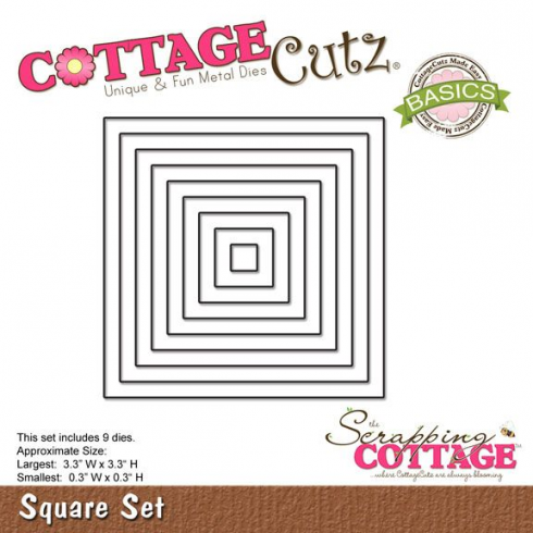 Scrapping Cottage CottageCutz Square Set