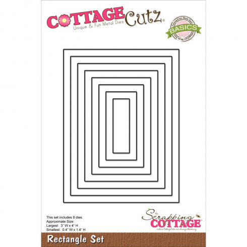 Scrapping Cottage Cutz Rectangle Set