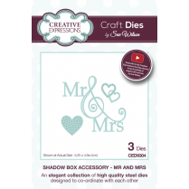 Sue Wilson Shadow Boxes Collection Mr and Mrs