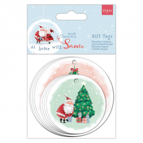 Papermania SHAPED GIFT TAGS (20PK) - AT HOME WITH SANTA