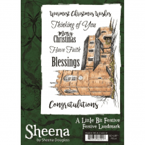 Sheena Douglass A Little Bit Festive A6 Unmounted Rubber Stamp - Festive Landmark