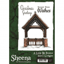 Sheena Douglass A Little Bit Festive A6 Unmounted Rubber Stamp - Snowy Lychgate