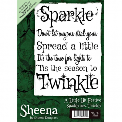 Sheena Douglass A Little Bit Festive A6 Unmounted Rubber Stamp - Sparkle and Twinkle