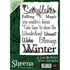 Sheena Douglass A Little Bit Festive A6 Unmounted Rubber Stamp - Winter Snowflakes
