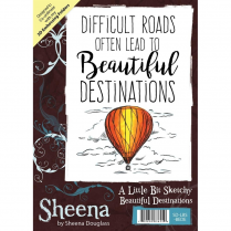 Sheena Douglass A Little Bit Sketchy A6 Unmounted Rubber Stamp - Beautiful Destinations