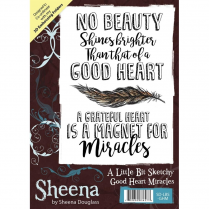 Sheena Douglass A Little Bit Sketchy A6 Unmounted Rubber Stamp - Good Heart Miracles