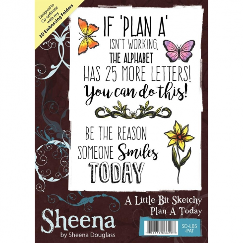 Sheena Douglass A Little Bit Sketchy A6 Unmounted Rubber Stamp - Plan A Today