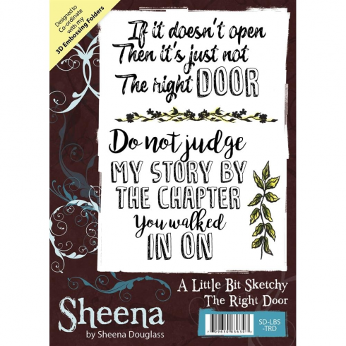 Sheena Douglass A Little Bit Sketchy A6 Unmounted Rubber Stamp - The Right Door