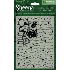 "Sheena Douglass Christmas 5"" x 7"" Embossing Folder - Its Christmas Scotty"