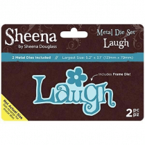 "Sheena Douglass Metal Die Set Laugh Set of 2 | 5.2"" x 3.1"""