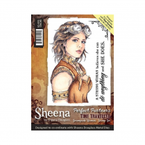 Sheena Perfect Partners Time Traveller A6 Stamp - Steampunk Woman