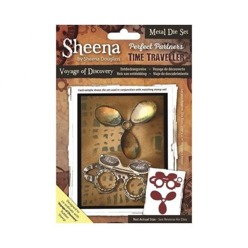 Sheena Perfect Partners Time Traveller Metal Die - Voyage Of Discovery