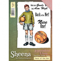 Sheena Remember When Stamp - Back of the Net