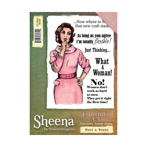 Sheena Remember When Stamp - What a Woman