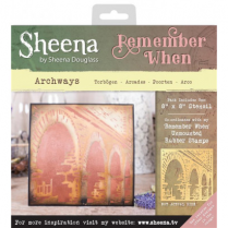 Sheena Remember When Stencil - Archways