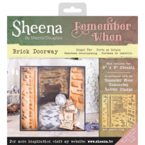 Sheena Remember When Stencil - Brick Doorway
